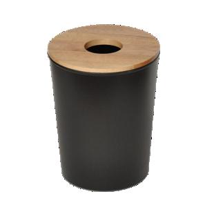 FLY-poubelle bois/noir