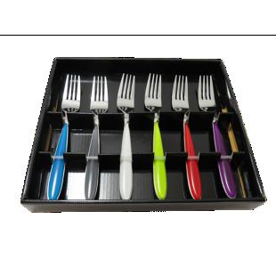 FLY-boite 6 fourchettes multicolores