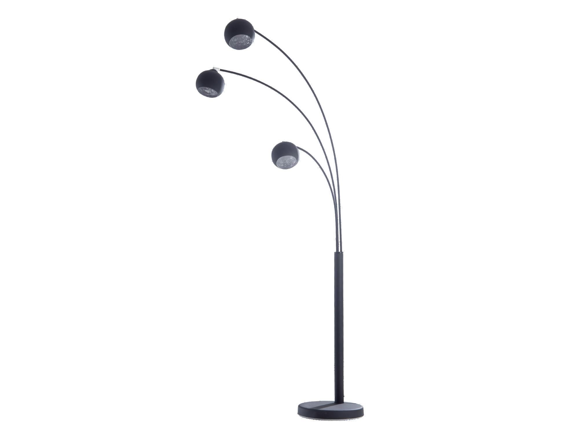 Lampadaire en acier finition epoxy coloris noir - 3 abat-jours orient ...
