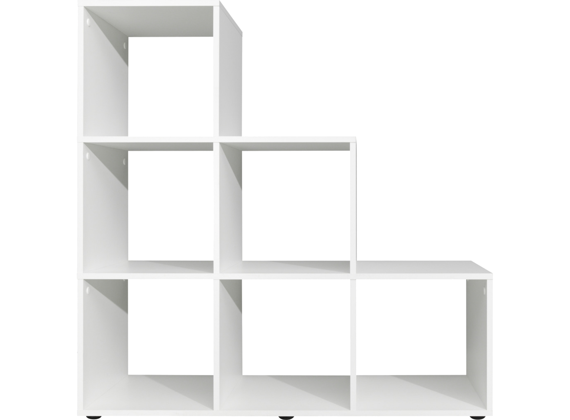 Etagere escalier 6 cases blanc fly for Meuble 6 cases blanc