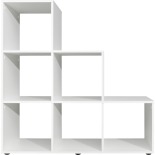 FLY-etagere escalier 6 cases blanc