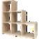 Etagere escalier 6 cases. structure en panneaux de particules coloris ...