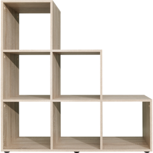 FLY-etagere escalier 6 cases chene
