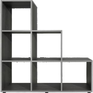 FLY-etagere escalier 6 cases gris