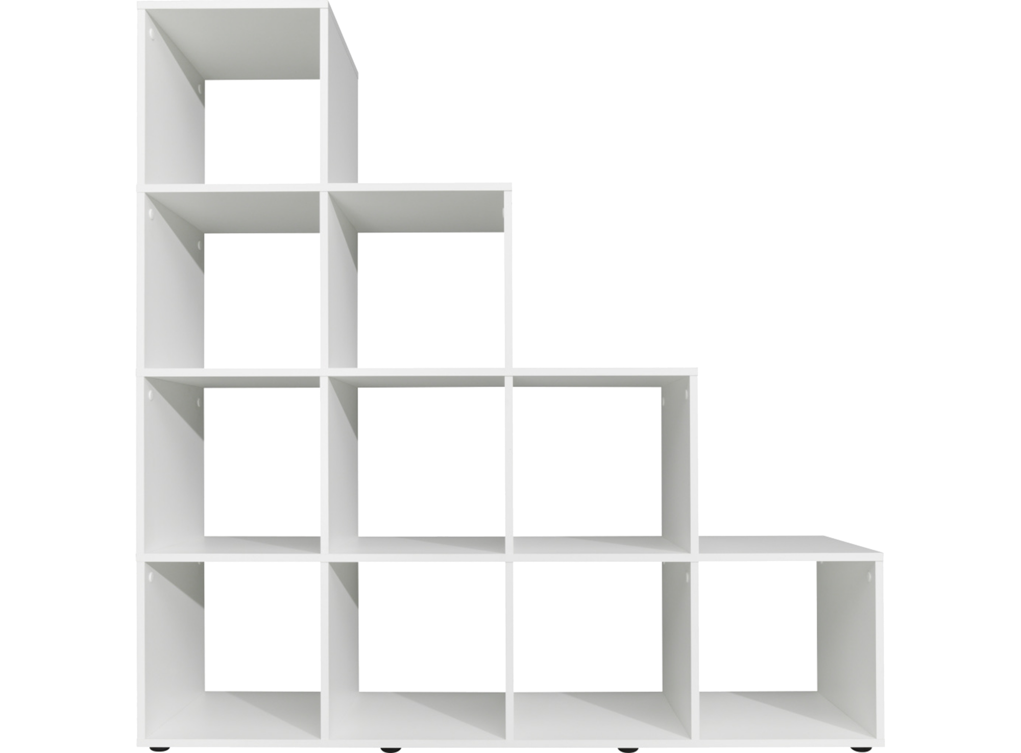 Etagere Escalier 10 Cases Blanc Fly