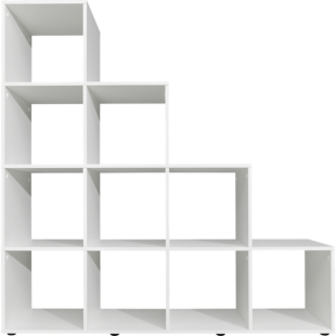 FLY-etagere escalier 10 cases blanc