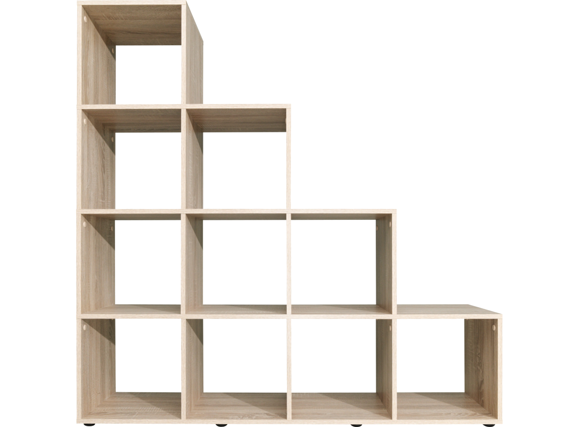 Etagere escalier 10 cases chene fly for Meuble de rangement fly