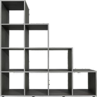 FLY-etagere escalier 10 cases gris