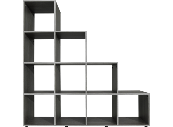 etagere escalier 10 cases gris fly. Black Bedroom Furniture Sets. Home Design Ideas