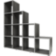 Etagere escalier 10 cases. structure en panneaux de particules colori ...