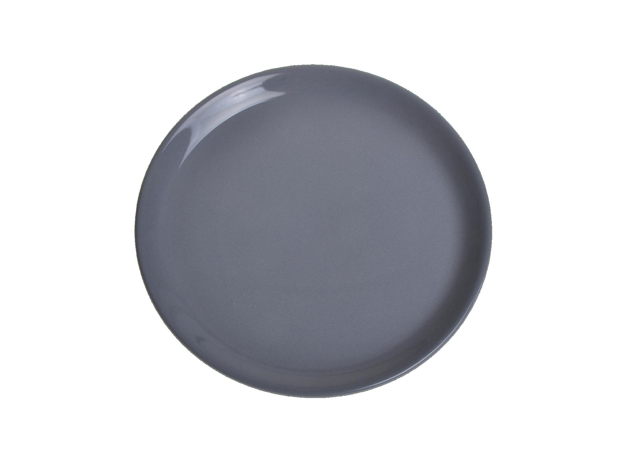 Assiette plate en faience emaillee coloris anthracite resiste au lave ...