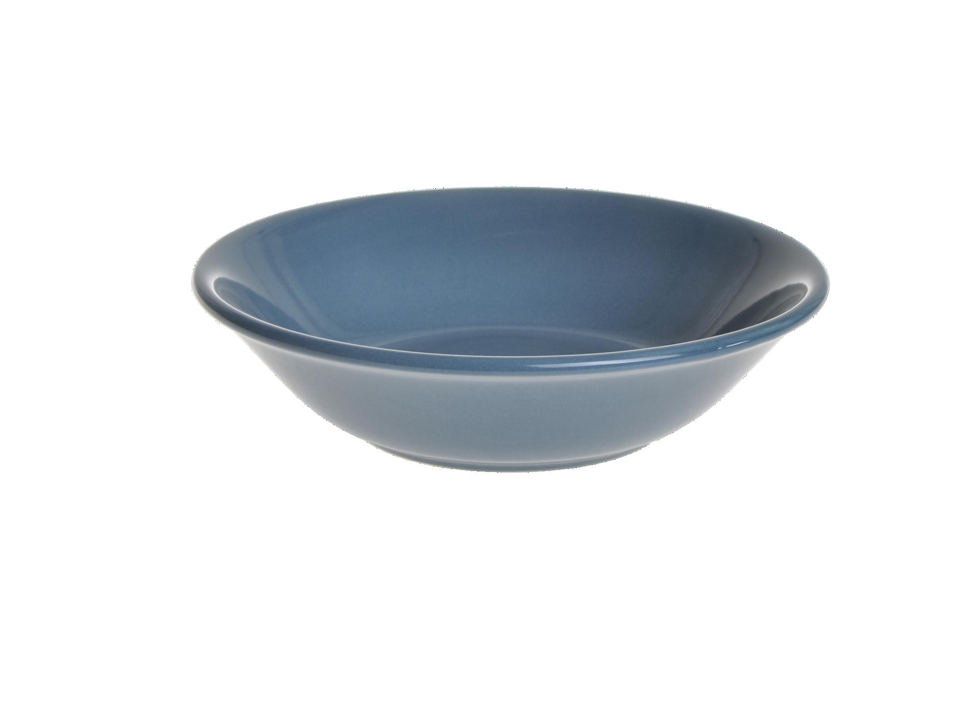 Assiette creuse en faience emaillee coloris bleu resiste au lave-vais ...