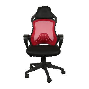 FLY-fauteuil de bureau noir et rouge