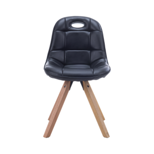 FLY-chaise assise noire