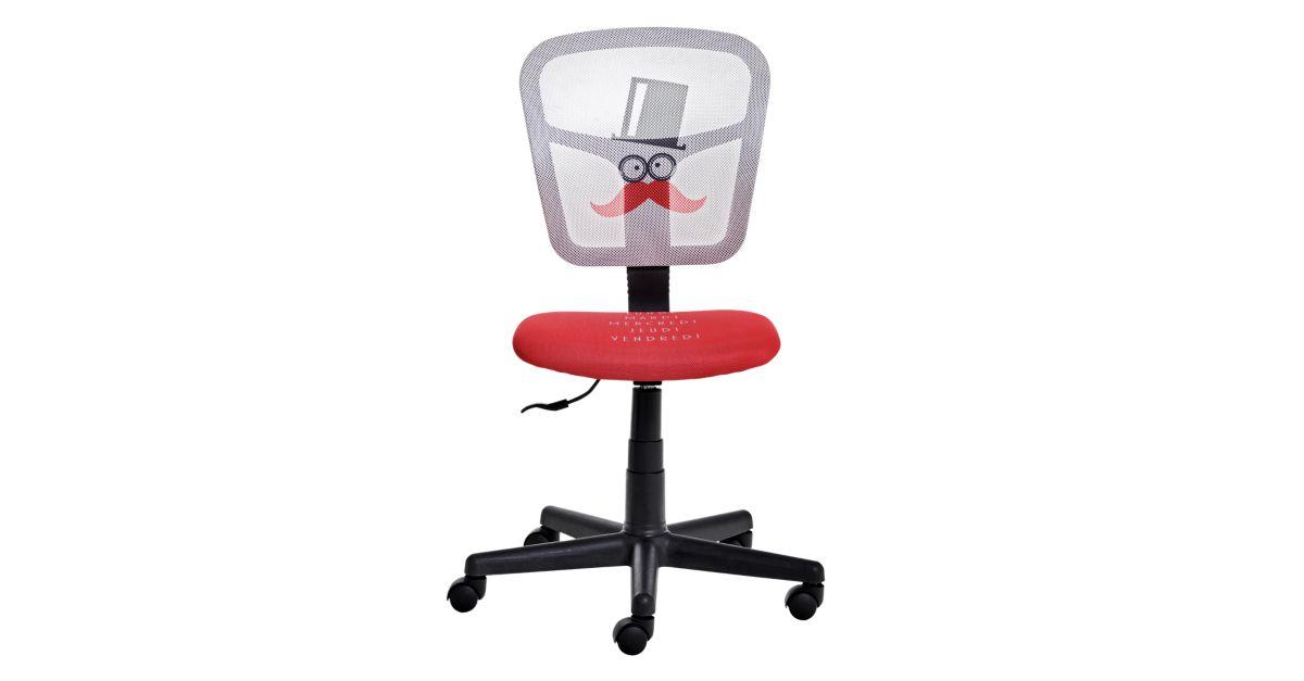 Chaise de bureau motif moustache fly - Chaise de bureau fly ...