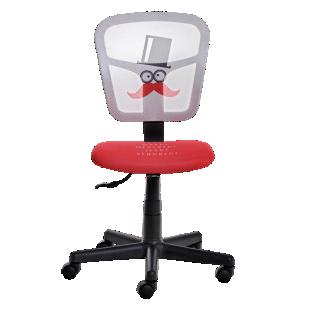 FLY-chaise de bureau motif moustache