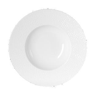 FLY-assiette creuse d.23cm blanc a relief