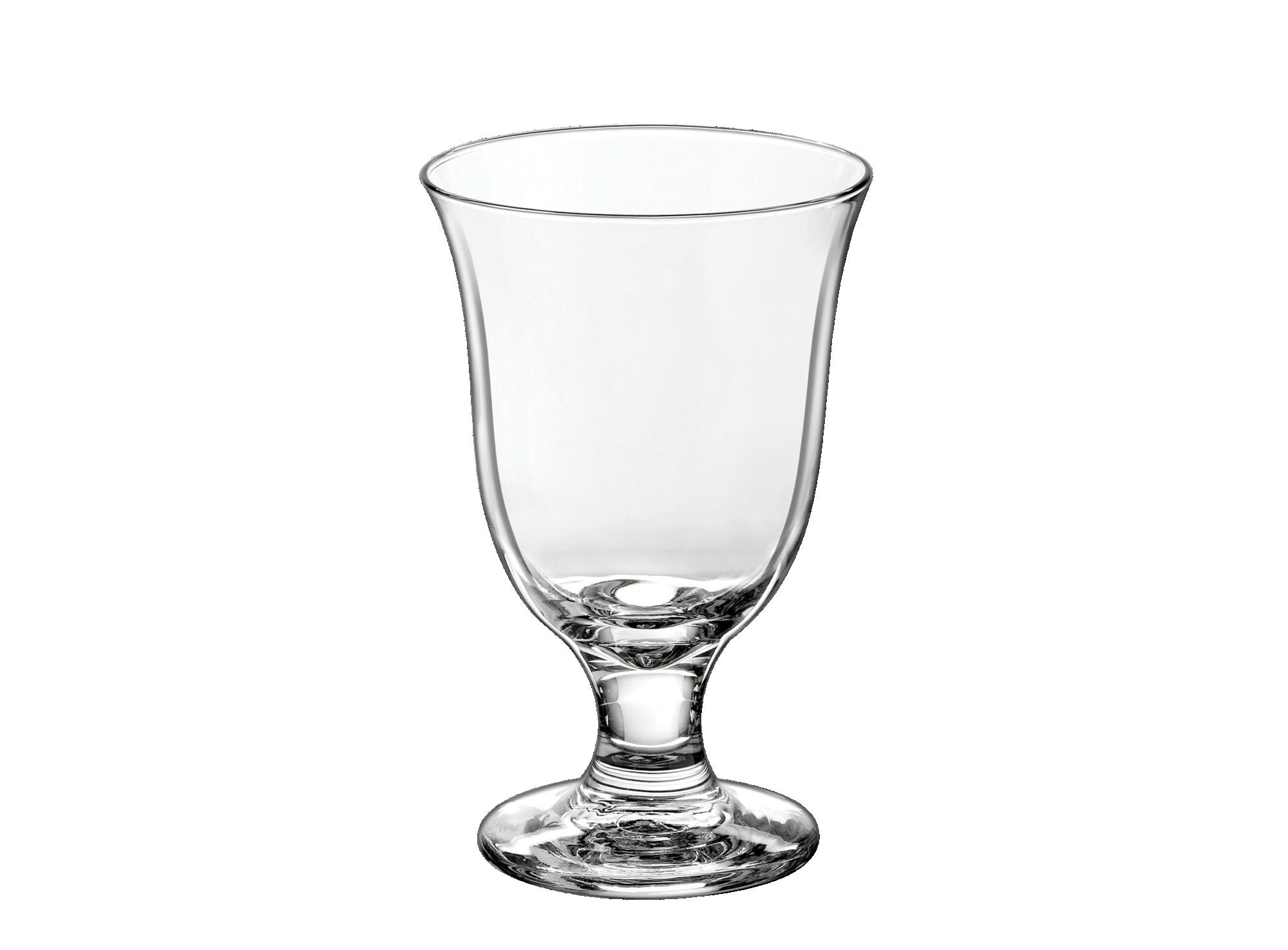 Verre a eau a pied carafe en verre mecanique - contenance 27cl - resi ...