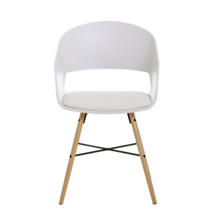 FLY-chaise bois/blanc