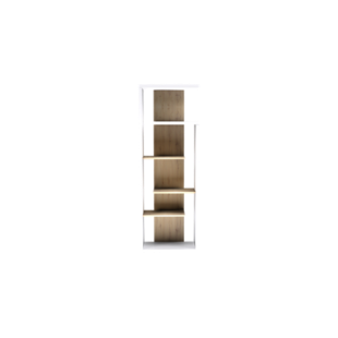FLY-etagere 3 tablettes blanc/chene