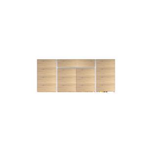 FLY-bahut bas 4 portes et 1 tiroir blanc/chene