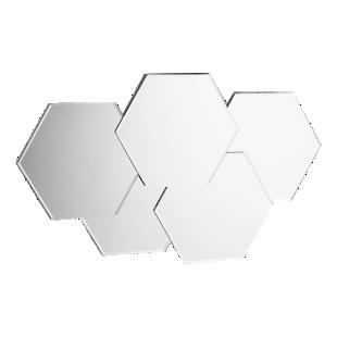 FLY-miroir 33x54cm multi hexagones