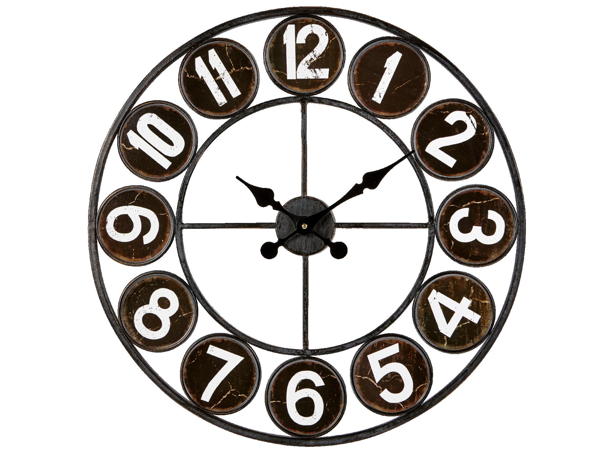 Horloge d.60cm blanc et noir