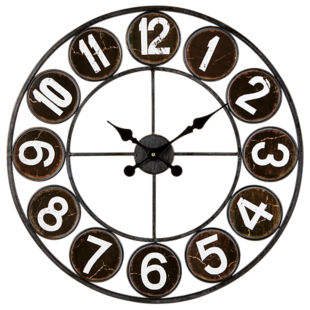 FLY-horloge d.60cm blanc et noir