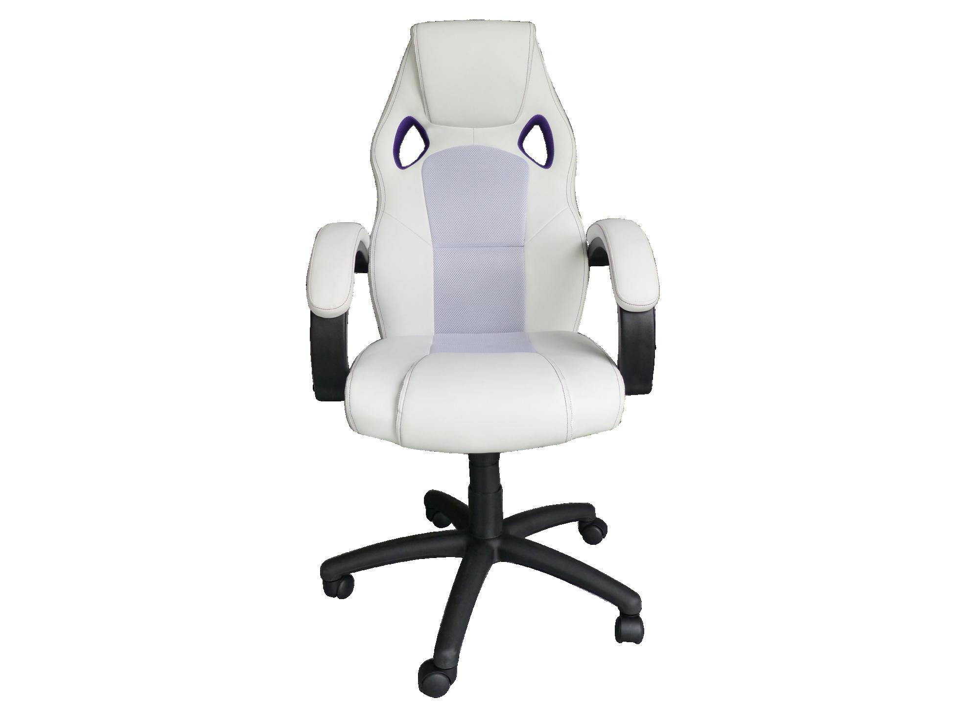 fauteuil de bureau blanc violet fly. Black Bedroom Furniture Sets. Home Design Ideas
