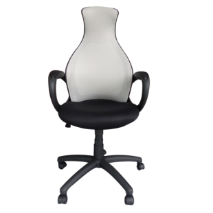 FLY-fauteuil de bureau blanc/noir