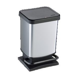 FLY-poubelle pedale 20l aspect metal