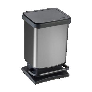 FLY-poubelle pedale 20l aspect carbone