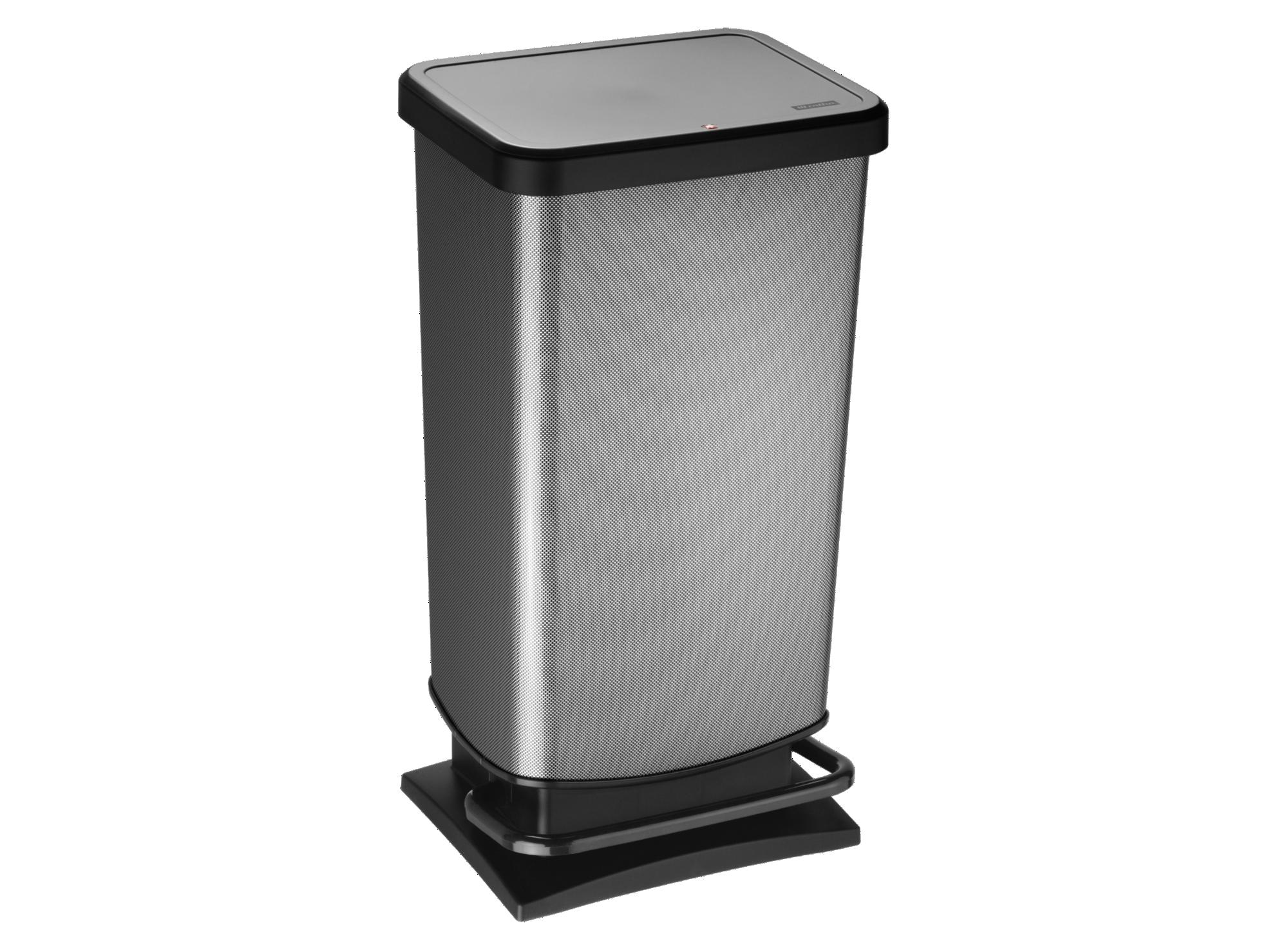 poubelle pedale 40l aspect carbone fly. Black Bedroom Furniture Sets. Home Design Ideas