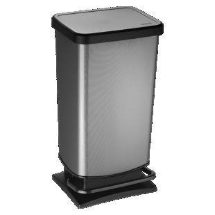 FLY-poubelle pedale 40l aspect carbone