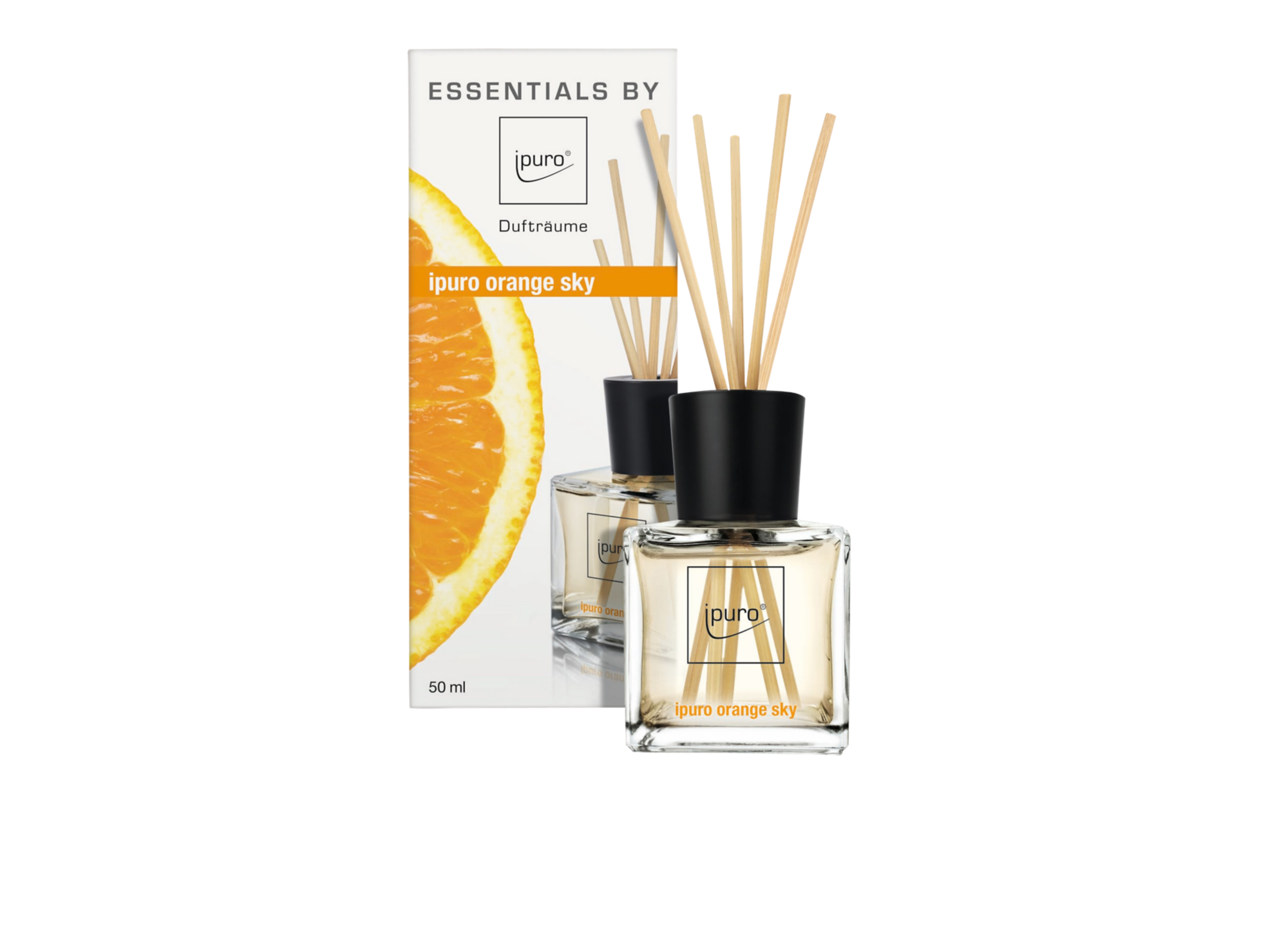 Diffuseur de parfum senteur orange - contenance 50ml - vendu avec 12  ...