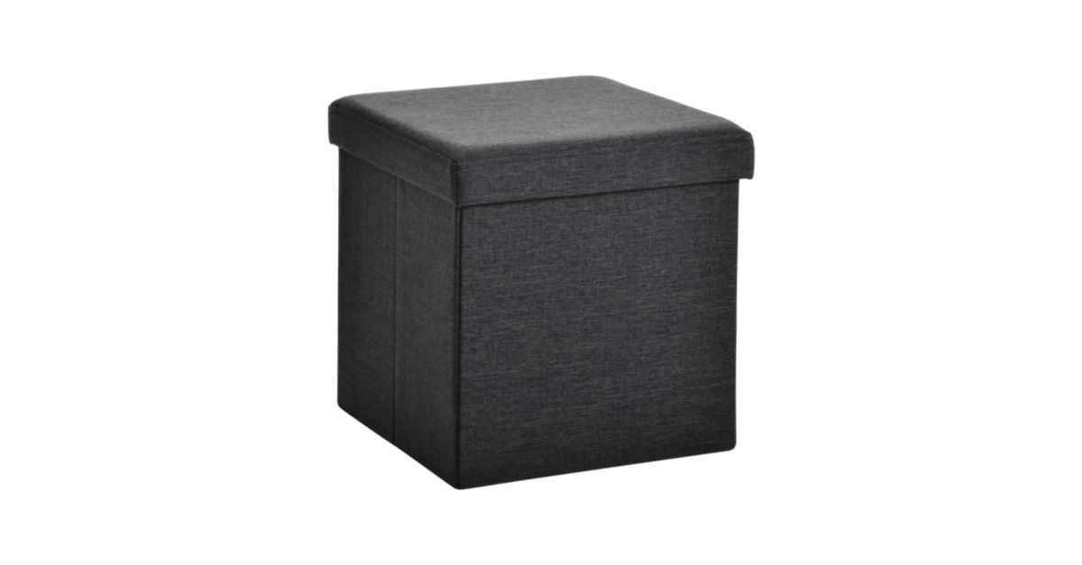 pouf de rangement 40x40 noir fly. Black Bedroom Furniture Sets. Home Design Ideas
