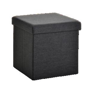 FLY-pouf de rangement 40x40 noir