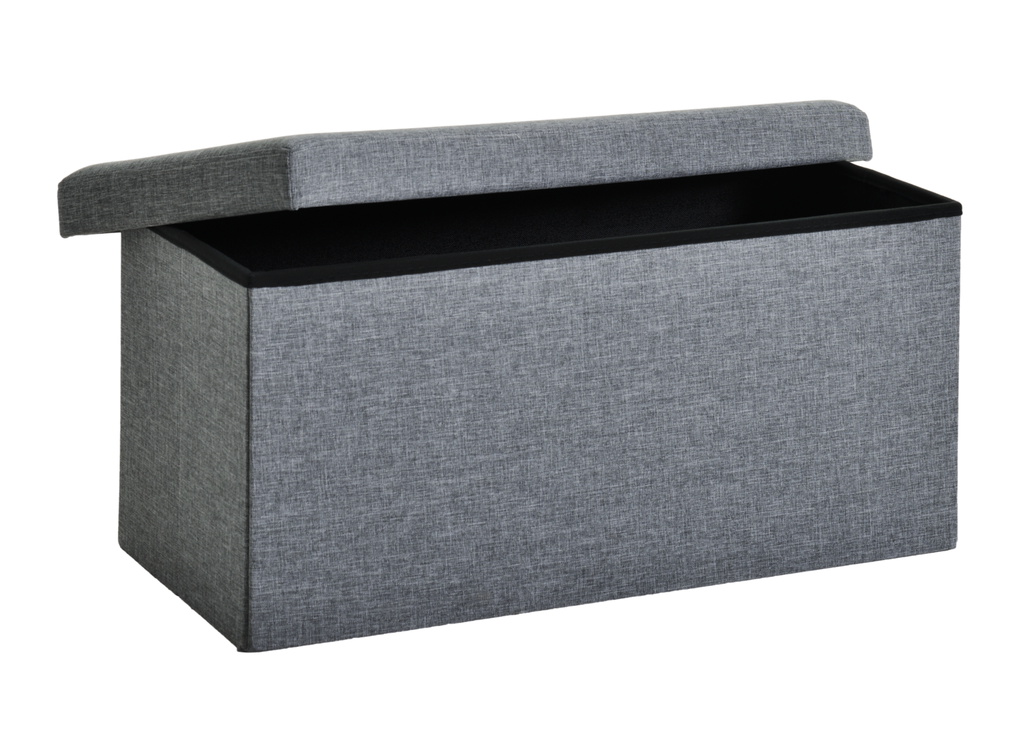 pouf de rangement 76x40 gris pouf cat gories canap. Black Bedroom Furniture Sets. Home Design Ideas