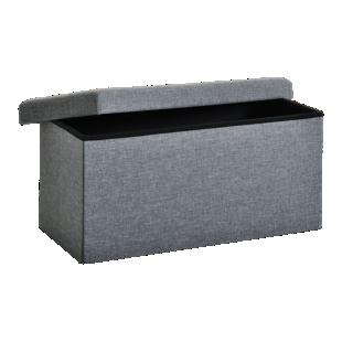 FLY-pouf de rangement 76x40 gris
