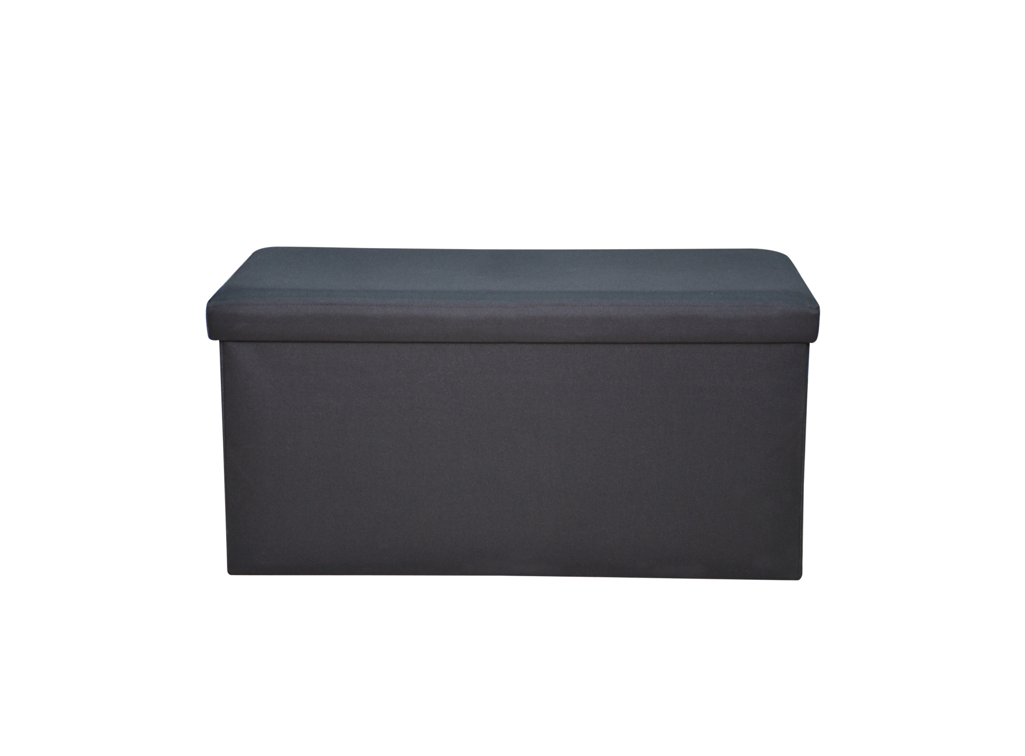 pouf de rangement 76x40 noir pouf cat gories canap. Black Bedroom Furniture Sets. Home Design Ideas