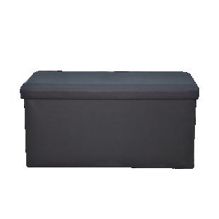 FLY-pouf de rangement 76x40 noir