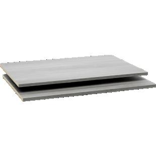FLY-2 tablettes l58 cm pour armoire l150/p61 cm argent