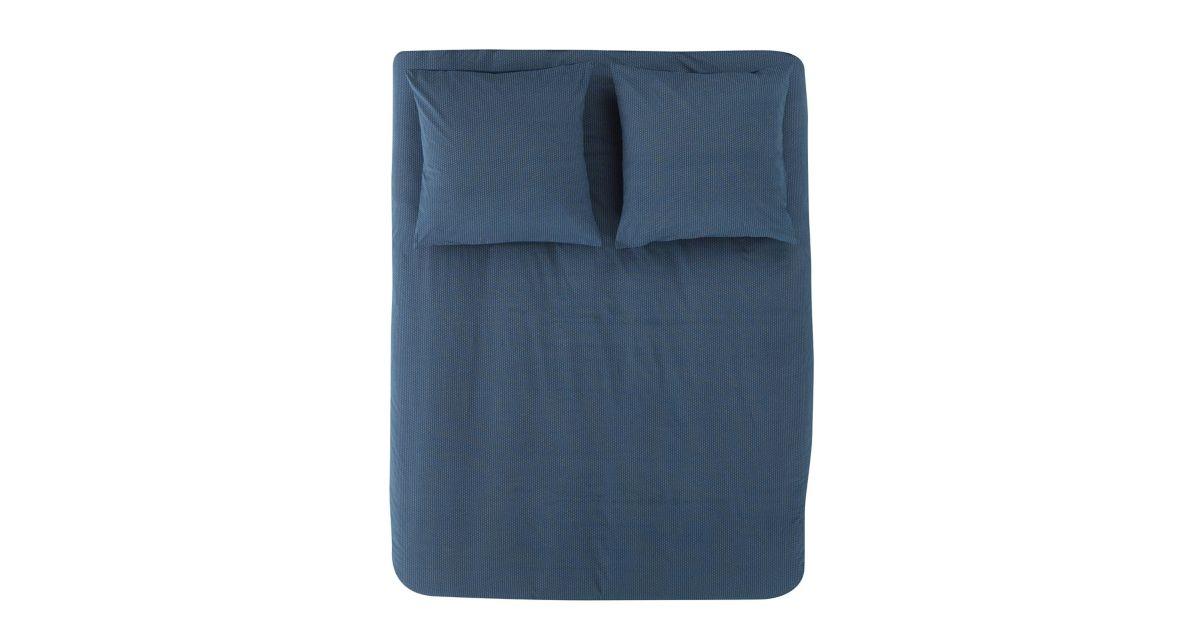 housse de couette 220x240cm 2taies coton bleu n fly. Black Bedroom Furniture Sets. Home Design Ideas