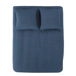 FLY-housse de couette 220x240cm+ 2taies coton bleu/n