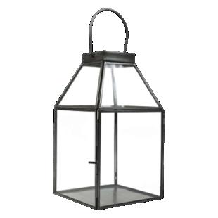FLY-lanterne verre/metal h29cm