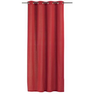 FLY-rideau coton 140x250 rouge