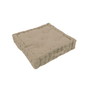 FLY-coussin sol coton 40x40 taupe