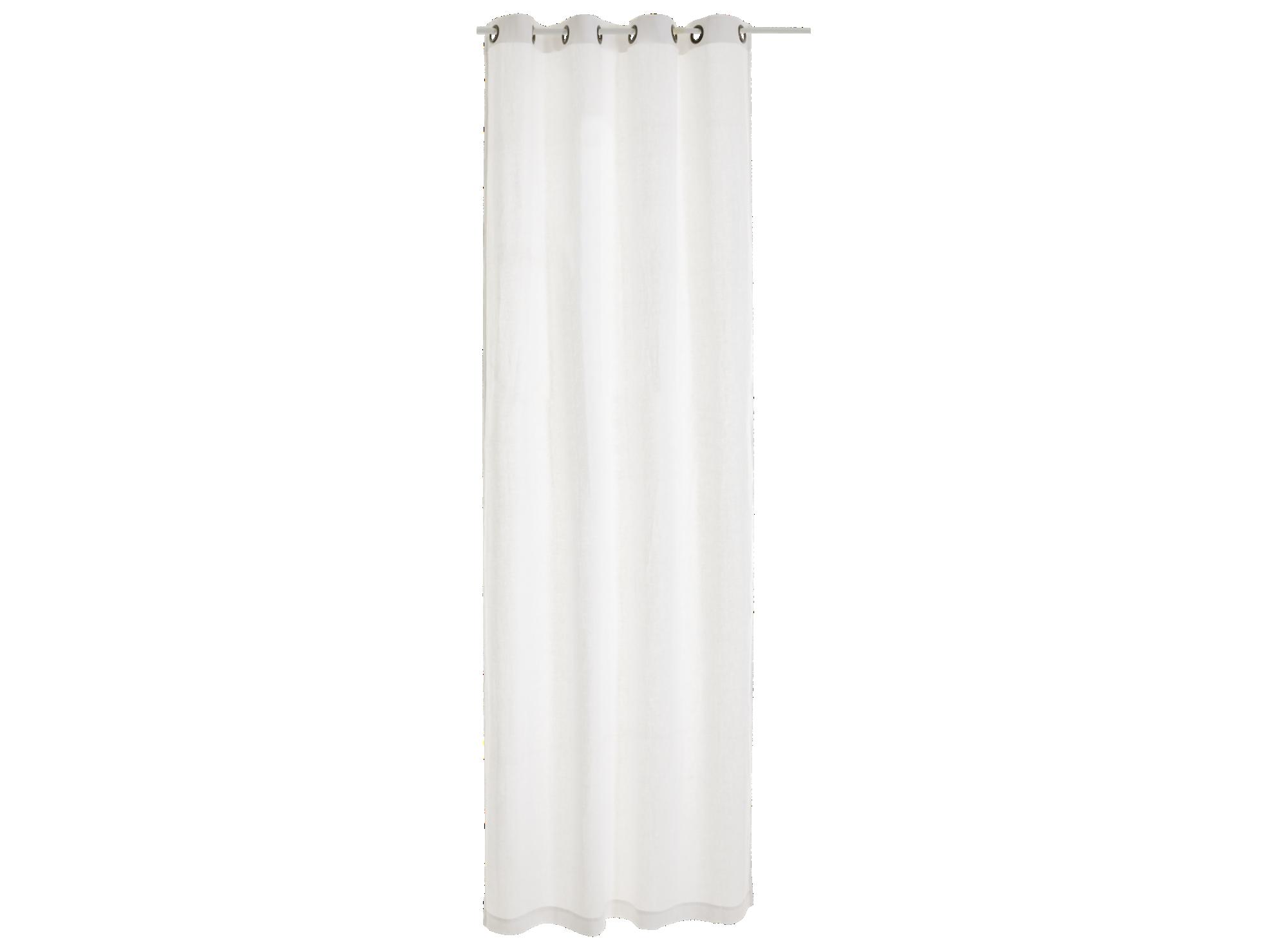 Rideau oeillet 140x250cm 100% lin coloris blanc densite 150g/m2   lav ...