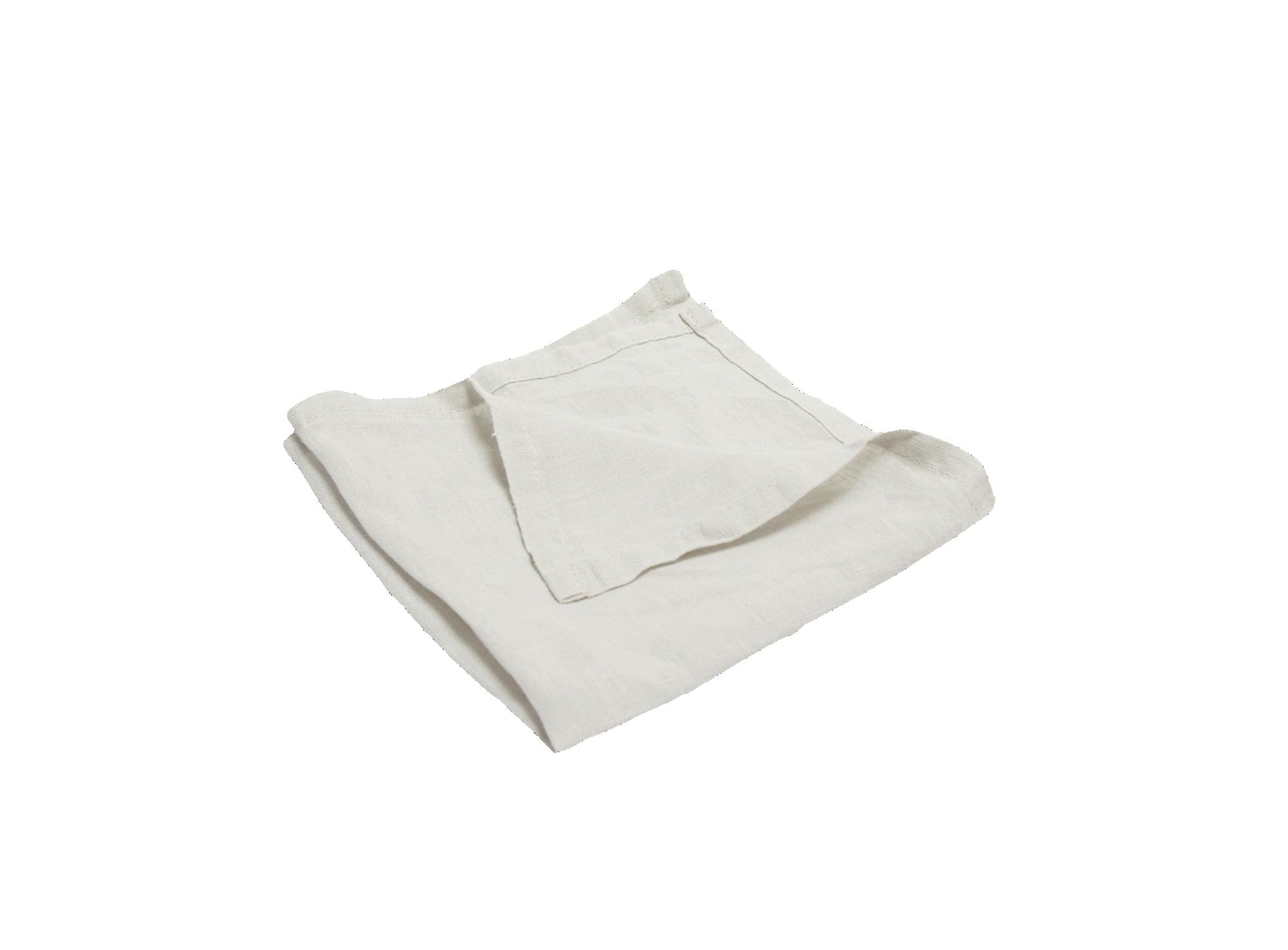 Serviette 40x40cm 100% lin coloris blanc densite 150g/m2  lavable en  ...