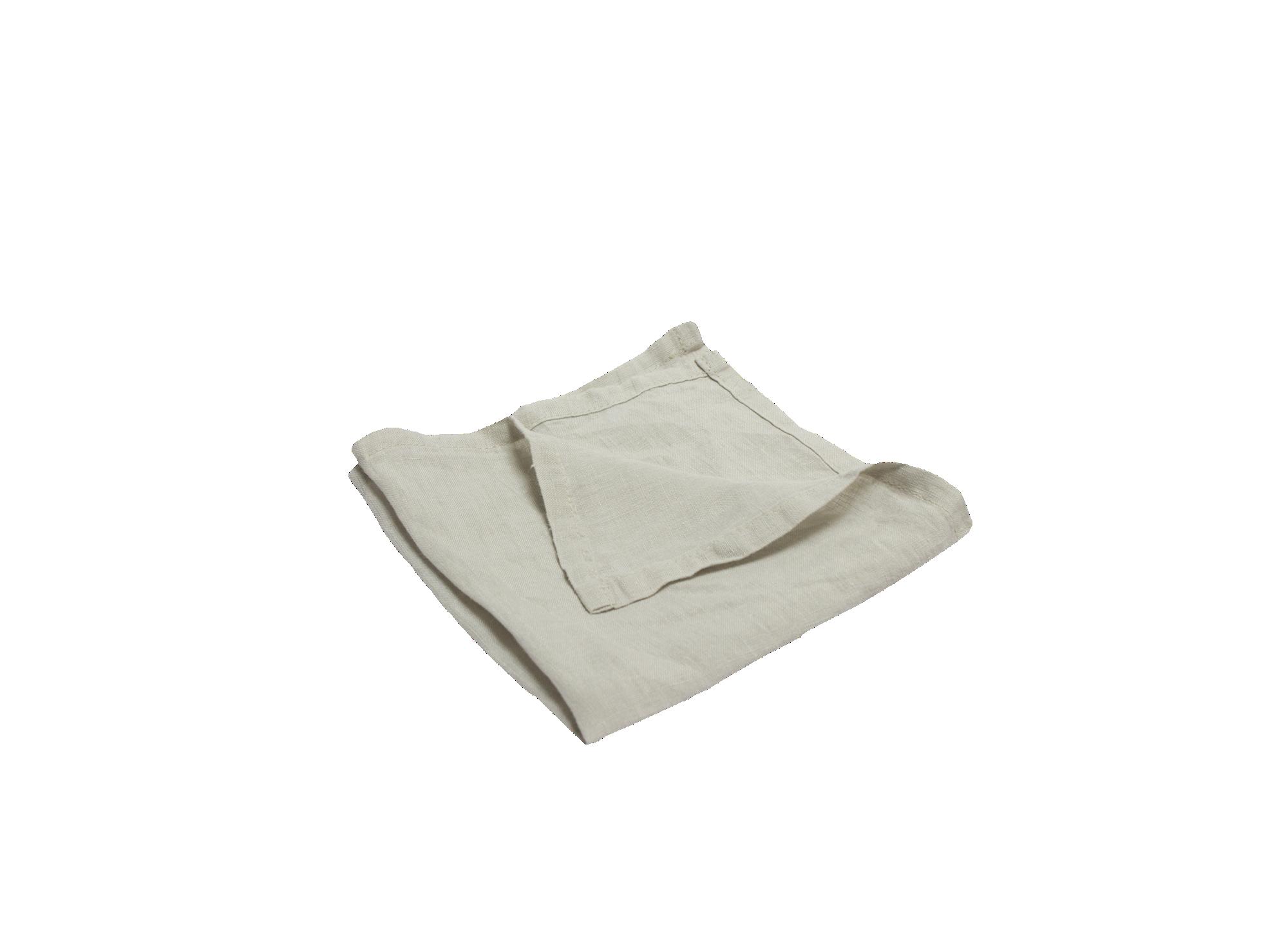 Serviette 40x40cm 100% lin coloris naturel densite 150g/m2 lavable e ...
